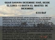 Gran sabana semana santa 2010, desde el sábado 27 de marzo al domingo 04 de abril por solo 900ººbs