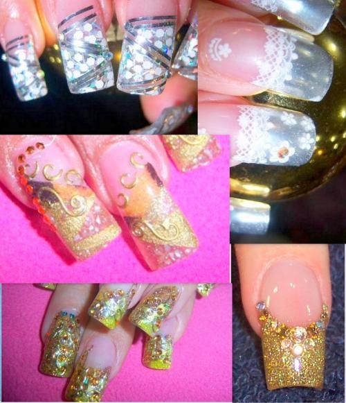 Fotos de uñas decoradas ultimas tecnicas 2010 - 2011 y pinceladas en