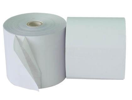 Rollos de papel bond, termico y quimico para impresoras fiscales, regitsradoras y tickets
