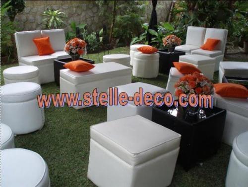 decoracin lounge alquiler puff para celebrar sus fiestas