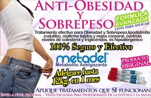 Aplicación anti obesidad metadel (metabolito adelgazante)  para profesionales