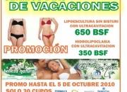 Promocion vacaciones - ultracavitacion con hidrolipoclasia 350bsf (hasta 5oct 2010)