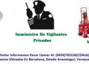 Empresa De Vigilancia y  Seguridad Privada en Anzoategui, Barcelona, Lecheria, Puerto La Cruz, Anaco, Cumana, Guanta, Puerto Piritu