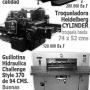 Vendo litografia Completa o por partes maquinas heidelberg