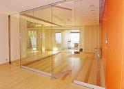 Instalación, reparación de puertas batientes de vidrio templado (templex) y laminados