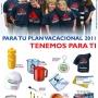 PLAN VACACIONAL 2011 (FRANELAS, GORRAS, CHAPAS, CARTUCHERAS)
