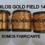 Hilo gold Field 14k para  Alambrismo.