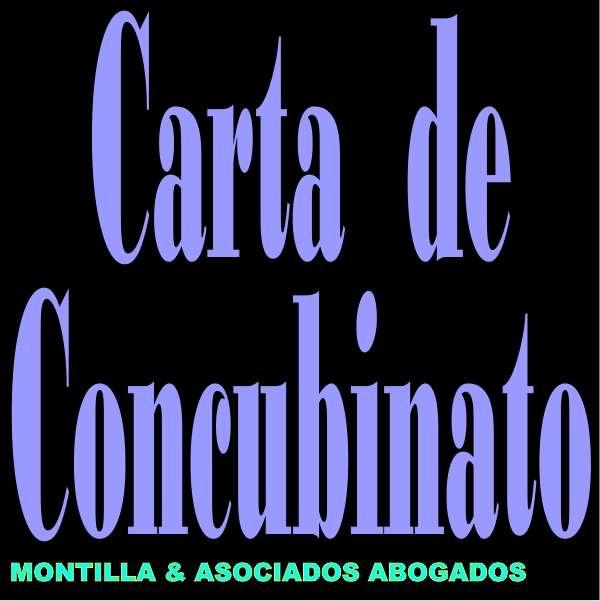 Carta concubinato o unión concubinaria - unión estable de hecho