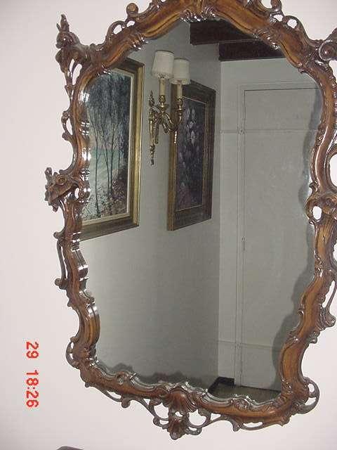 Pin fotos de espejo con marco madera antigua bello dise o - Marco foto antigua ...