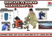 DESTAPE 24 HORAS PLOMERIA MARACAIBO C.A presupuesto gratis