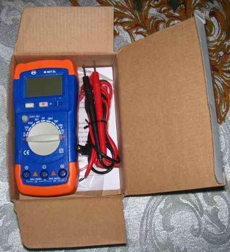 Capacimetro digital marca cr modelo m6013l