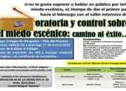 CURSO INTENSIVO DE ORATORIA Y CONTROL MIEDO ESCÉNICO