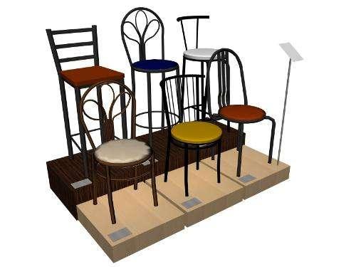 Sillas y bancos para restaurant, cafe, comedor, barra, bar, feria de ...