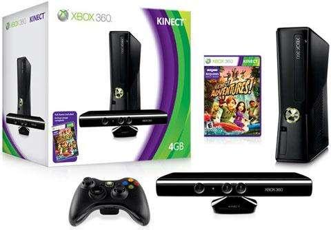 Xbox 360 slim de 4 gb, juego kinect adventures nuevo