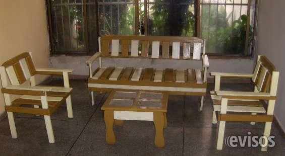 Juego de muebles de madera rústicos en san diego, venezuela   muebles
