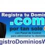 Registro de dominios .com .net .org con panel de control