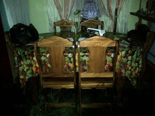 Venda de juego de comedor de madera rustica de 6 sillas echo en magdaleno
