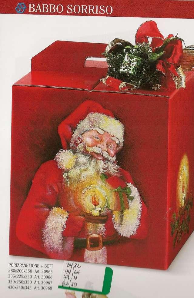Navidad - caja porta panetone navideña... y botellera.