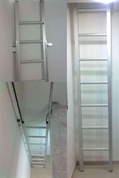 Escalera de aluminio para locales comerciales