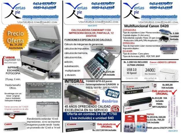 Suministros de fotocopiadoras y otros oficina