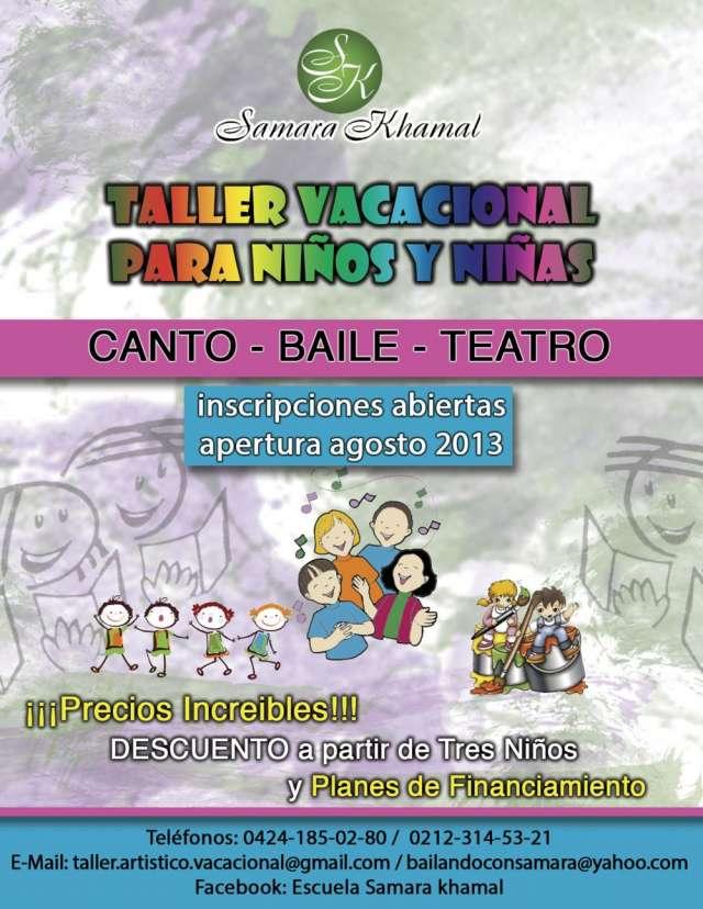 Taller artistico vacacional para niños y niñas 2013