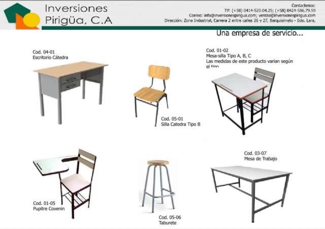 Mobiliario escolar mesa silla pupitre