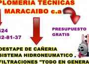 Srvicios de plomeria en general tecni maracaibo v-20282195-9