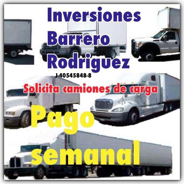 Transporte solicita camiones para afiliar en caracas