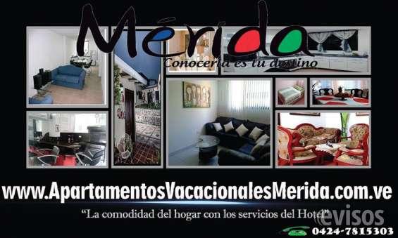 Alquiler apartamentos amoblados, para turistas en mérida