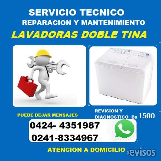 Reparación y mantenimiento de lavadoras doble tina