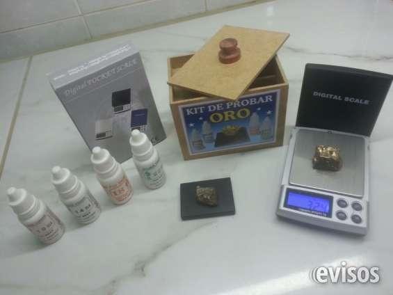 Kit de probar oro [balanza, liquidos, piedra de toque]