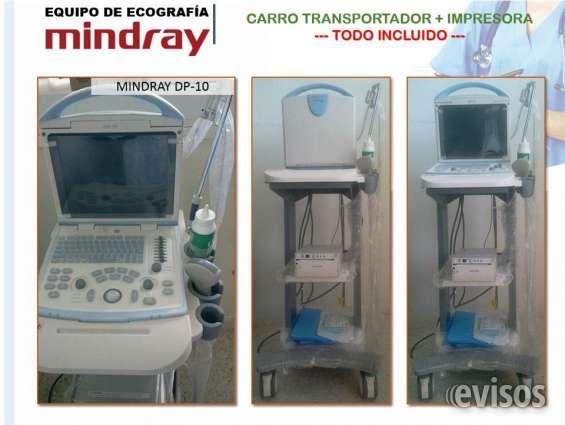 Equipo de ecografia mindray dp-10 con transductores