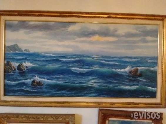 Vendo pintura al óleo, marina de salgado