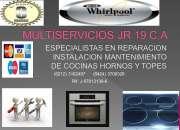 Técnicos en reparación de topes hornos y cocinas whirlpool