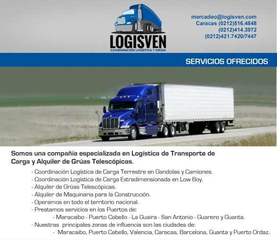 Transporte de carga de tractocamiones - contenedores de 20 pies