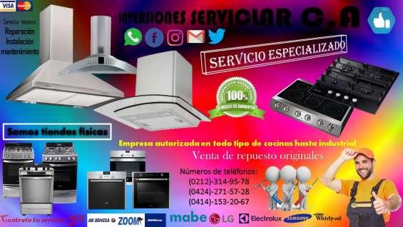 Profesional reparaciones topes, vitroceramica, cocinas, hornos hasta industrial