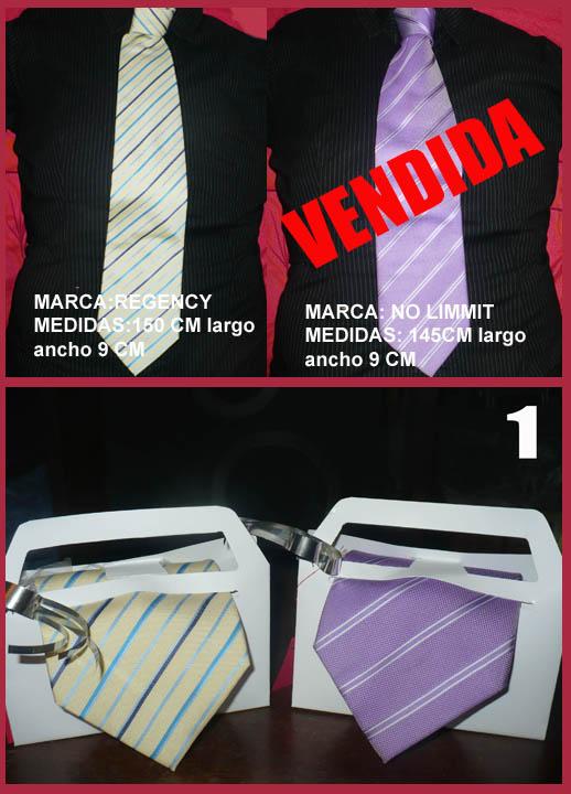 Se venden corbatas para caballeros