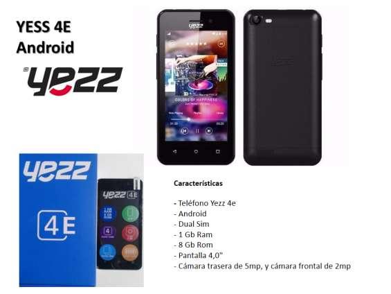 Teléfono celular nuevo android yess 4e