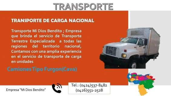 Transporte mi dios bendito - transporte de carga (camiones)