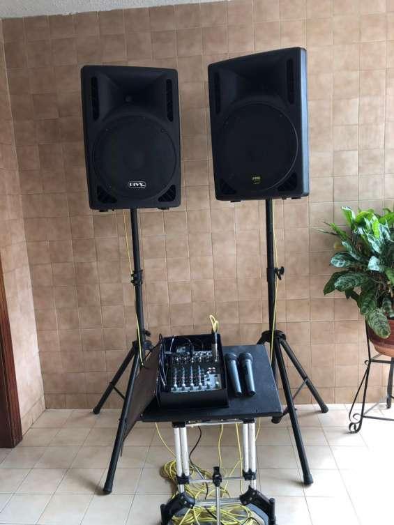 Alquiler de equipo de sonido pequeño para conferencias cumpleaños bodas ambiente music