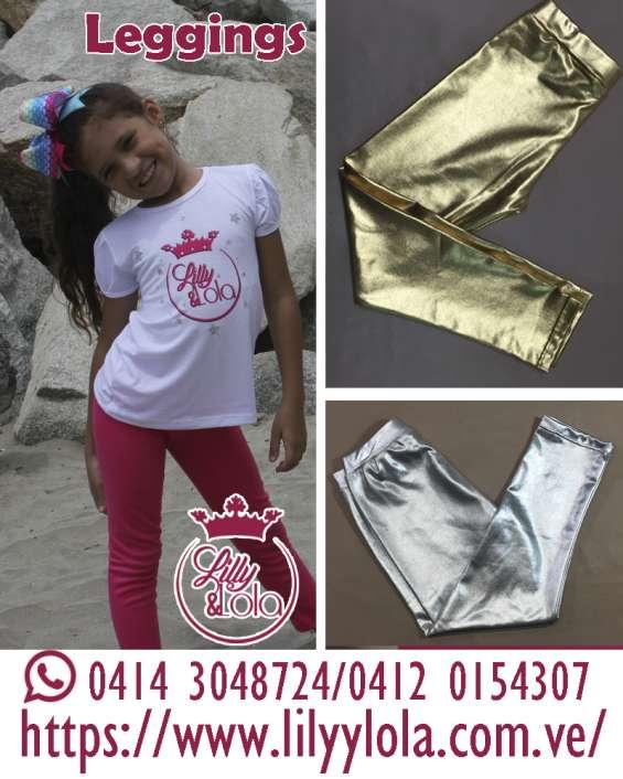 Variados diseños en leggins para niñas