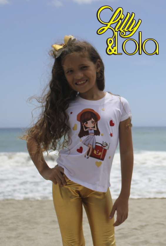 Fotos de Variados diseños en leggins para niñas 4