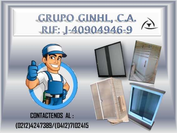 Reparacion, mantenimiento e instalacion de puertas de baños, ventanas panoramica, entre ot