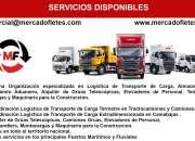 Transporte de carga de camiones  camion canter  - mercadofletes