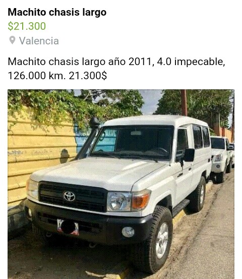 Machito chasis largo